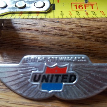 United Airlines Future Stewardess Flight Wings Pin - Advertising
