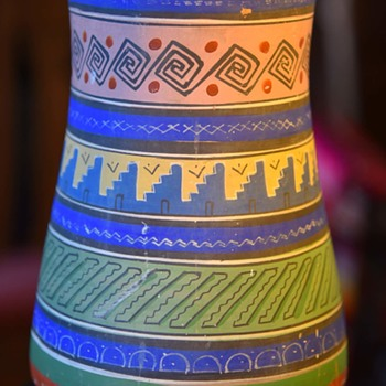 A large Tonala Aztec Ware [Opaco] Vase - Pottery