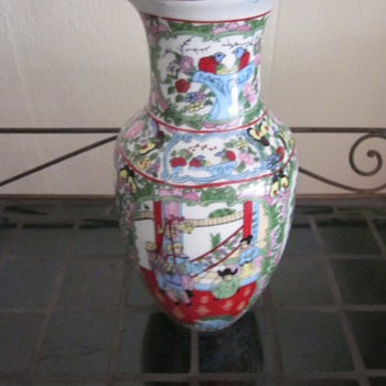 Unknown Mfg of Vase and Markings - Asian