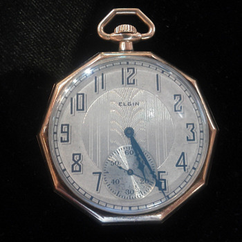 Rare 10 sided solid 14k elgin circa 1923 - Pocket Watches
