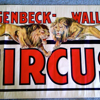 "Original 1938 ""Hagenbeck Wallace"" Stone Lithograph Poster - Posters and Prints"