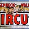 "Original 1938 ""Hagenbeck Wallace"" Stone Lithograph Poster"