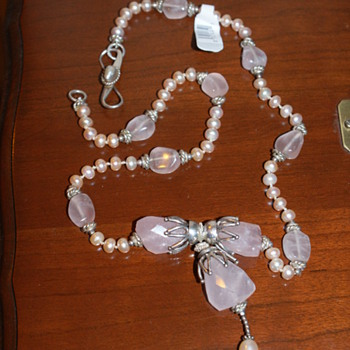 Help Needed:Rose Quartz, Pearls, and 925 Silver?