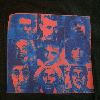 "Shepard Fairey GIANT ""Famous Dead People"" Very Rare T-Shirt"