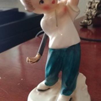 Japanese porcelain golf figurine - Figurines