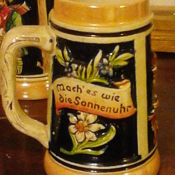 "This is 2nd entry of my beautiful 6"" German stein. I got these from my now deceased mother-in-law and she got them from her mot"