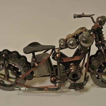 Harley Davidson Knuckle Metalwork.....Sonny Barger Beer Can - Motorcycles