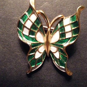 Trifari butterfly pin - Costume Jewelry