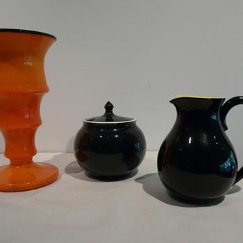 CZECH KRALIK TANGO VASE - Art Glass