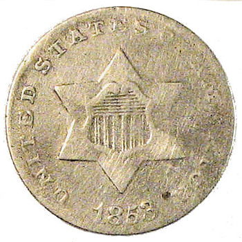 Early U.S. Type Coin: 1853 Three-Cent Piece - US Coins