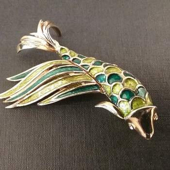 Boucher koi fish brooch  - Costume Jewelry