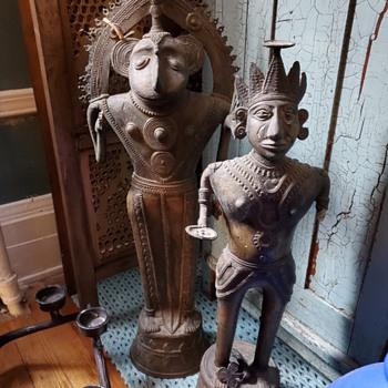 Lost-wax cast Dhokra statues - Asian