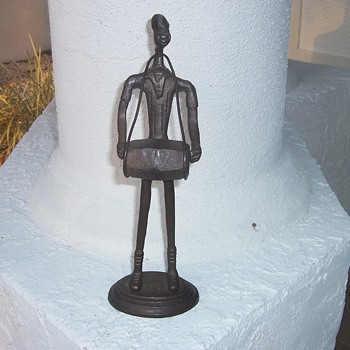 Unusual Metal Male Figure with Drum - Advertising