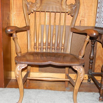 wooden carved chair - Furniture
