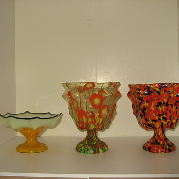 Kralik Knuckle vases - Art Glass