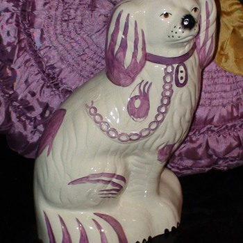 Beswick Staffordshire Porcelain Pair King Charles Spaniel Mantle Dogs Pink Lustre Circa 1940 - Animals