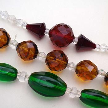 ART DECO CRYSTAL GLASS NECKLACES CZECHOSLOVAKIA - Costume Jewelry