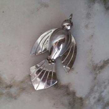 Vintage Coro swallow pin - Costume Jewelry