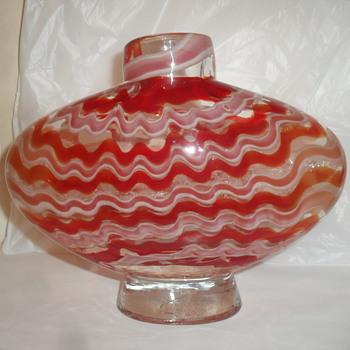 Art Glass Vase i.d please - Art Glass