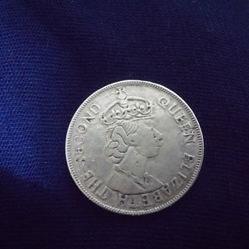 Rare East African Queen Elizabeth II 1957 1 shilling coin