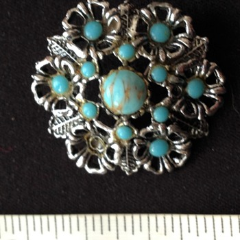 Turquoise brooch - Fine Jewelry