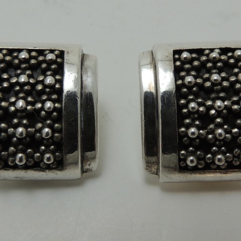 LOIS HILL - Sterling Silver Clip Earrings - 925 Indonesia - Costume Jewelry
