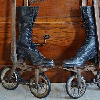 """ENGLAND 1895 Roller skates """"Ritter""""  - Sporting Goods"""