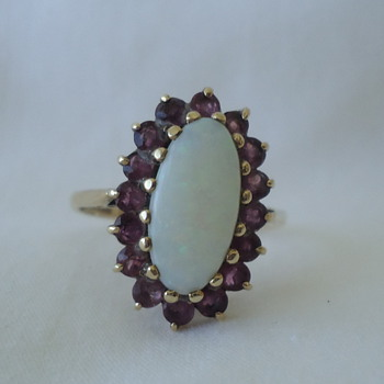 Opal & Ruby Ring - Fine Jewelry