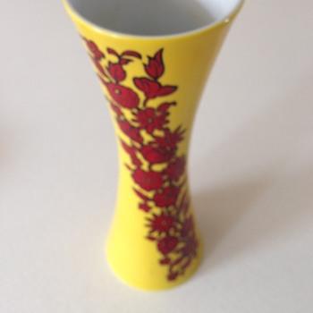 Bright Yellow German Vase - Pottery