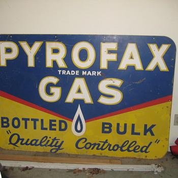 Pyrofax  metal sign - Signs