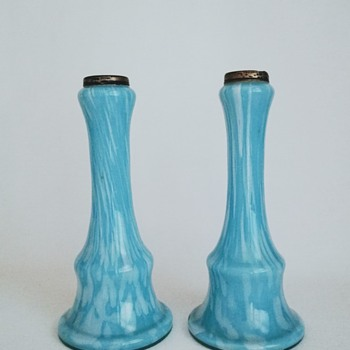A Pair of Welz Vases - Art Glass