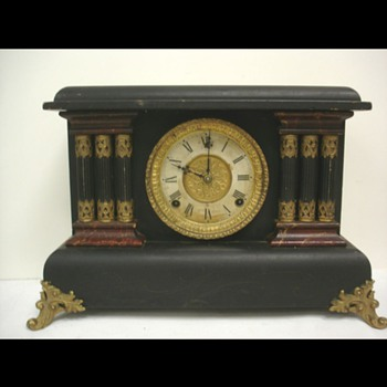 Sessions ornate vintage victorian antique famous American mantle clock  - Clocks