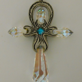 Crystal Cross, 20 Century - Costume Jewelry