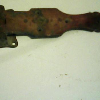 Antique brass strap hinges(set of 3)