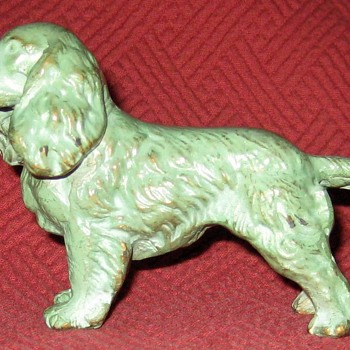 Vintage Cold Painted Bronze Springer Spaniel - Animals