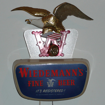 Wiedemann's Beer Eagle Light Up Motion Sign - Breweriana
