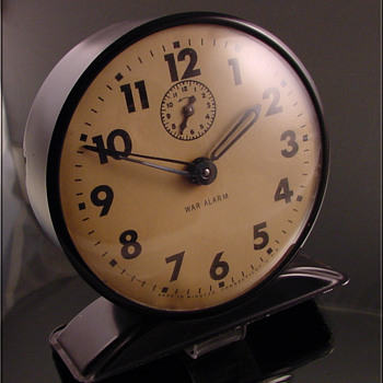 War Alarm Clock Unusual c.1940's - Clocks