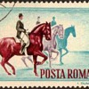 """1964 - Romania """"Equestrians"""" Postage Stamps"""