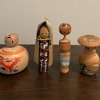 Kokeshi dolls.  - Dolls