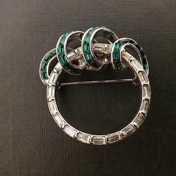 Pennino baguette brooch  - Costume Jewelry