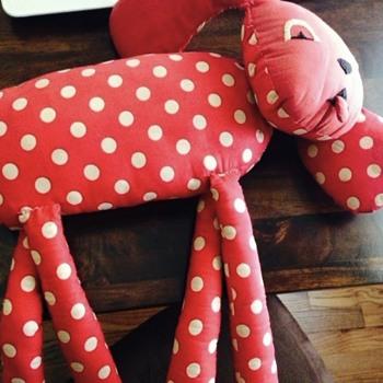 Red Polka Dot Dog. - Animals