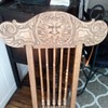 My favorite North wind chair oak hand carved