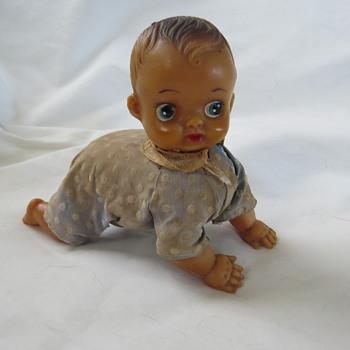 Windup crawling doll