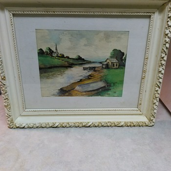 VINTAGE WATERCOLOR PAINTING - Fine Art