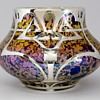 Fritz Heckert TH211 Amethyst Marmopal, with Silver overlay, 1900