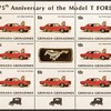 """1983 - Grenadines """"Ford Mustang"""" Postage Stamps Sheet"""