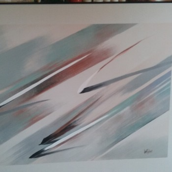 Lee Reynolds 48 x 60 Large Abstract Painting