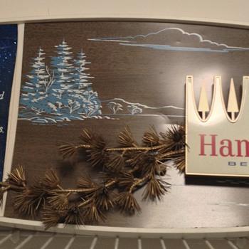 Hamm's sign/ Grain Belt clock