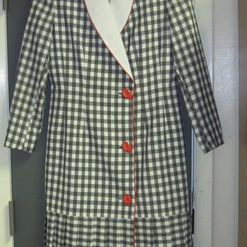 Lilli Ann Checkered Wrap Dress - Womens Clothing