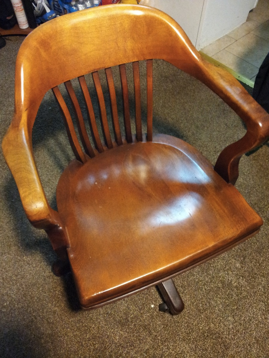 B. L. Marble Chair Company Birch Walnut Chair 5592 1/2 | Collectors Weekly
